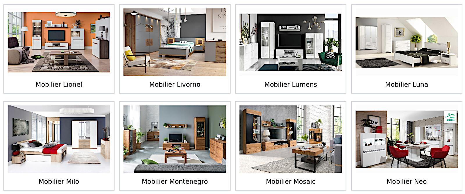 Colectii mobila Lionel, Livorno, Lumens, Luna, Milo, Montenegro, Mosaic, Neo de nepretuit