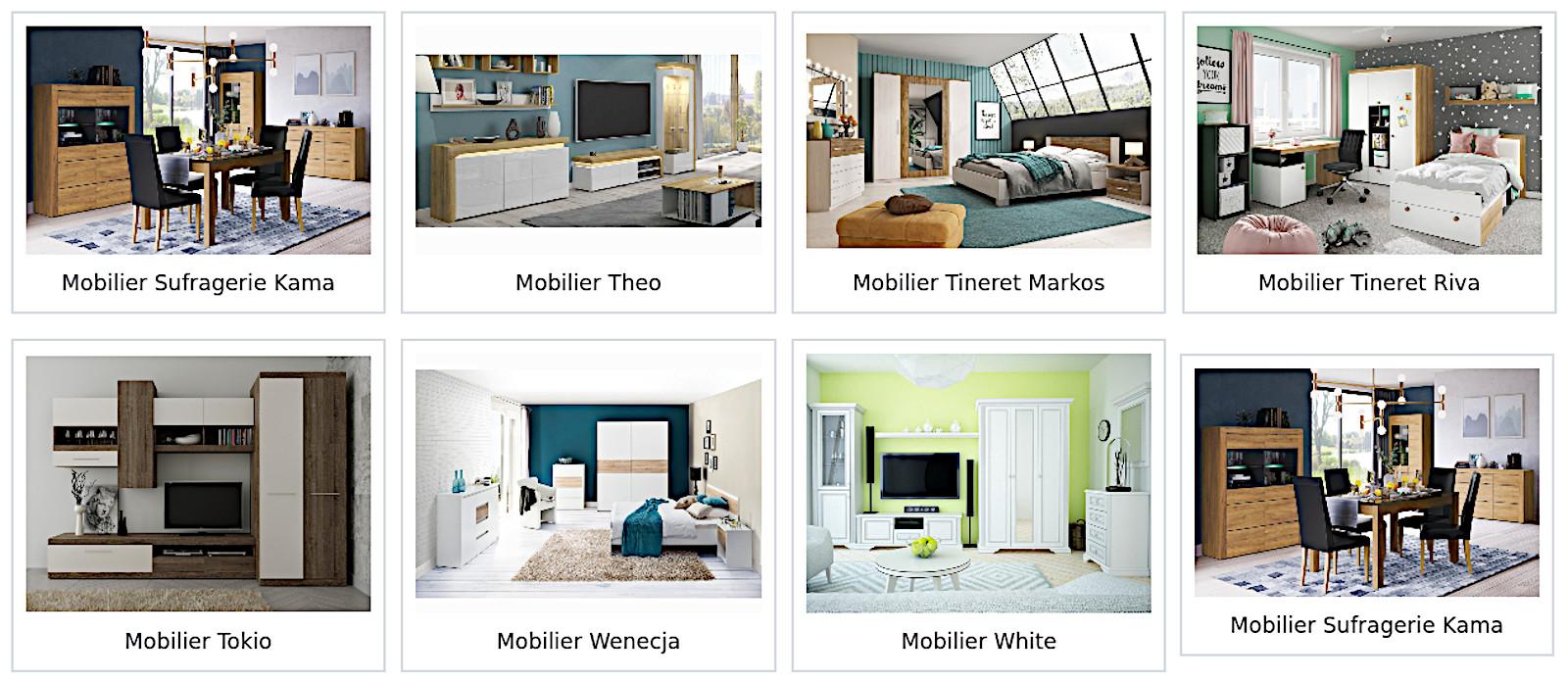Colectii mobila Kama, Theo, Markos, Riva, Tokio, Wenecja, White de calitate