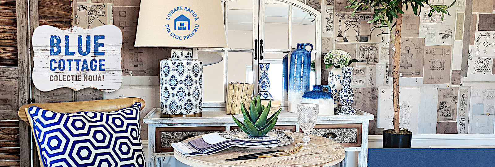 Colectia Blue cottage convenabil