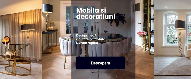 Decoratiuni interioare, corpuri de iluminat, si mobila foarte bun